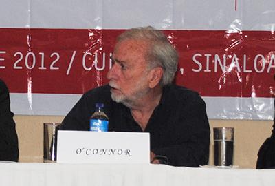 Mike O'Connor durante una conferencia de prensa en Sinaloa (Ron Bernal)