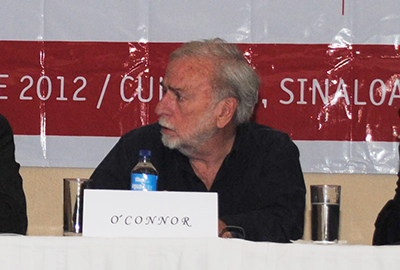 Mike O'Connor at a 2012 press conference in Culiacán. (Ron Bernal)