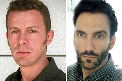 El Mundo correspondent Javier Espinosa, left, and freelance photographer Ricardo Garcia Vilanova. (AFP/El Mundo/Family Handout)