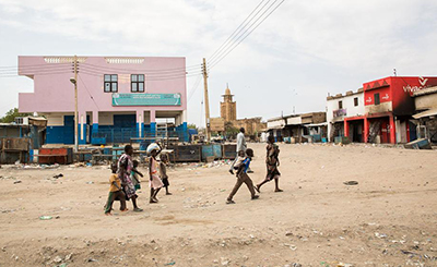 Not a single local news station is operating full-time in the town of Malakal, which has been ravaged by the fighting. (Al-Jazeera/Emre Rende)