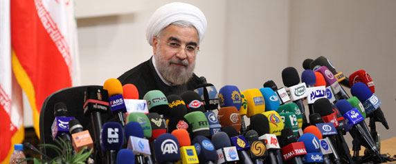 In his early months in office, Iranian President Hassan Rouhani, pictured in Tehran June 17, 2013, focused primarily on foreign affairs. (Reuters/Fars News/Majid Hagdost)