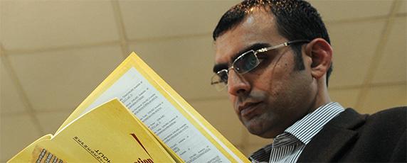 Pakistani investigative journalist Umar Cheema has exposed corruption in Parliament. (AFP/Aamir Qu)