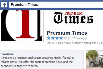 For two months, editors were blocked from posting Premium Times' links on the outlet's Facebook page. (Facebook)
