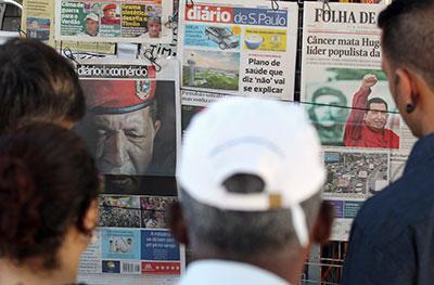 Os alvos da censura judicial vão de grandes jornais metropolitanos, na foto, a empresas de internet e blogueiros independentes. (Reuters / Paulo Whitaker)