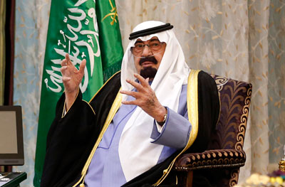 Saudi Arabia's King Abdullah has decreed several laws that censor the press. (Reuters/Kevin Lamarque)