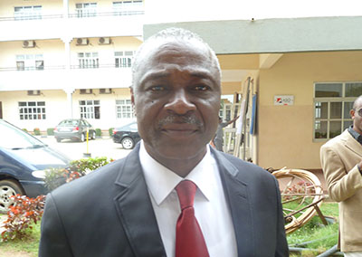 Oga Tom Uhia, publisher of the monthly independent Power Steering magazine, has been in police custody since Tuesday. (CPJ/Peter Nkanga)