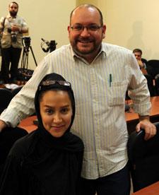 Jason Rezaian and Yeganeh Salehi (AFP)