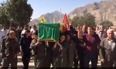 The funeral of Deniz Firat, a journalist who was killed in Iraqi Kurdistan. (Facebook/Kamal Chomani)