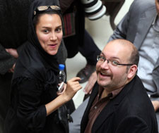 Jason Rezaian and his wife, Yeganeh Salehi, who was arrested with him but since freed. (AP Photo/Vahid Salemi)