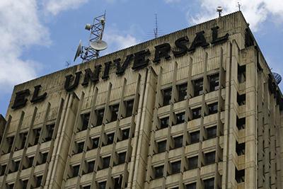 La sede de El Universal de Caracas. El diario, que fue conocido por ser crítico del gobierno, fue vendido en julio de 2014. (Reuters/Jorge Silva)