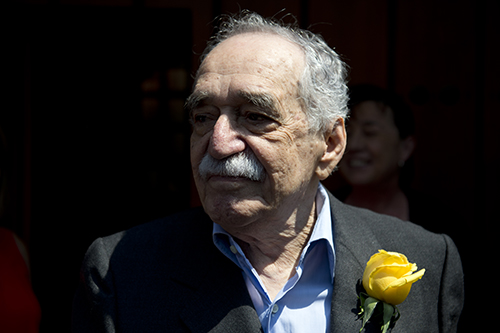 Colombian writer Gabriel García Márquez on his 87th birthday last year. The Nobel laureate played a vital role in protecting journalists but more needs to be done. (AFP/Yuri Cortez)