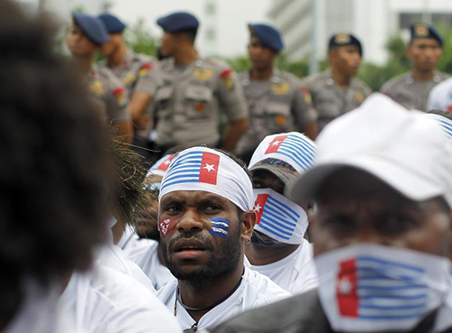 A rally in Jakarta for the Free Papua Movement. Restricted media access to the Indonesian region has left the ongoing fight for secession under reported. (Reuters/Pius Erlangga)