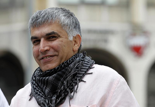 Nabeel Rajab arrives for an appeal hearing in February. The president of Bahrain Center for Human Rights was arrested after writing an article about the prison riot. (Reuters/Hamad Mohammed)