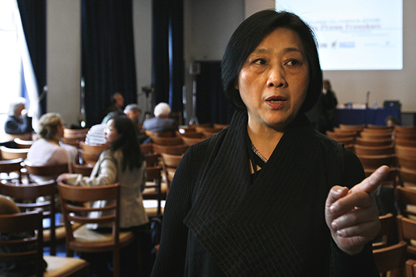Gao at a press freedom conference in Paris, in April 2008,(AP/Jacques Brinon)