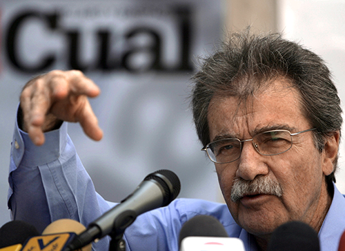 Tal Cual's founder Teodoro Petkoff, pictured in 2007, has been the voice of the paper for years. (AFP/Juan Barreto)