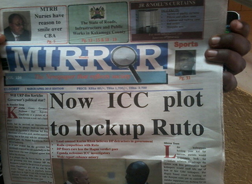 The most recent issue of the Mirror Weekly in Kenya. (Media Council of Kenya)