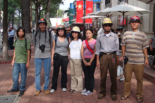 Ta Phong Tan, third from left, was a founding member of the Free Journalists Club of Vietnam. (Nguyen Tien Trung/Flickr)