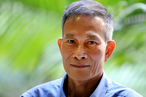 Vietnamese blogger Nguyen Van Hai, who was jailed for more than six years for his critical writing, is living in exile in the U.S. (AP/Richard Vogel)