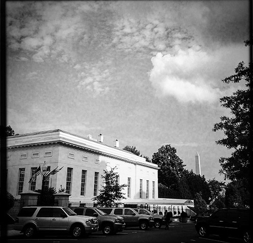 The west wing of the White House in July. The Obama administration is debating whether to support stronger encryption. (Geoffrey King/CPJ)