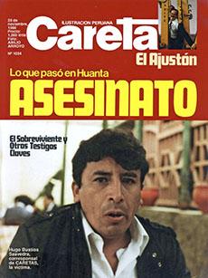 La revista Caretas publicó a Bustíos en su portada tras el asesinato del periodista. (Caretas)
