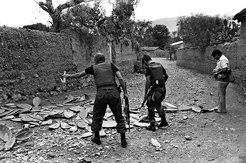 The scene of Bustios' murder. (Caretas)