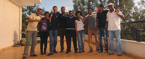 Members of the Zone 9 blogging group. Four of the bloggers are currently on trial in Ethiopia. (Endalkachew H/Michael)