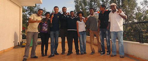 Members of the Zone 9 blogging group. (Endalkachew H/Michael)