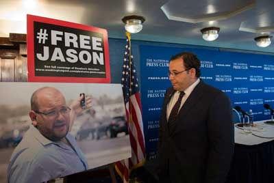 Ali Rezaian, brother of Jason Rezaian, gives an update on the case at the National Press Club in Washington on July 22. (AP/Molly Riley)