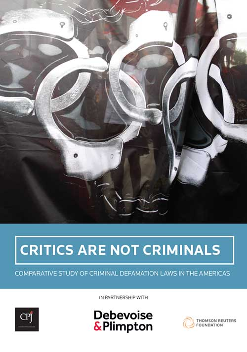 Critics Are Not Criminals: Comparative Study of Criminal Defamation Laws in the Americas