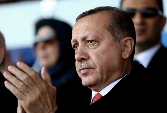Turkish President Recip Tayyip Erdoğan in Cannakale, Turkey, March 18, 2016 (Photo: Khayan Ozer/Presidential Press Service/AP)