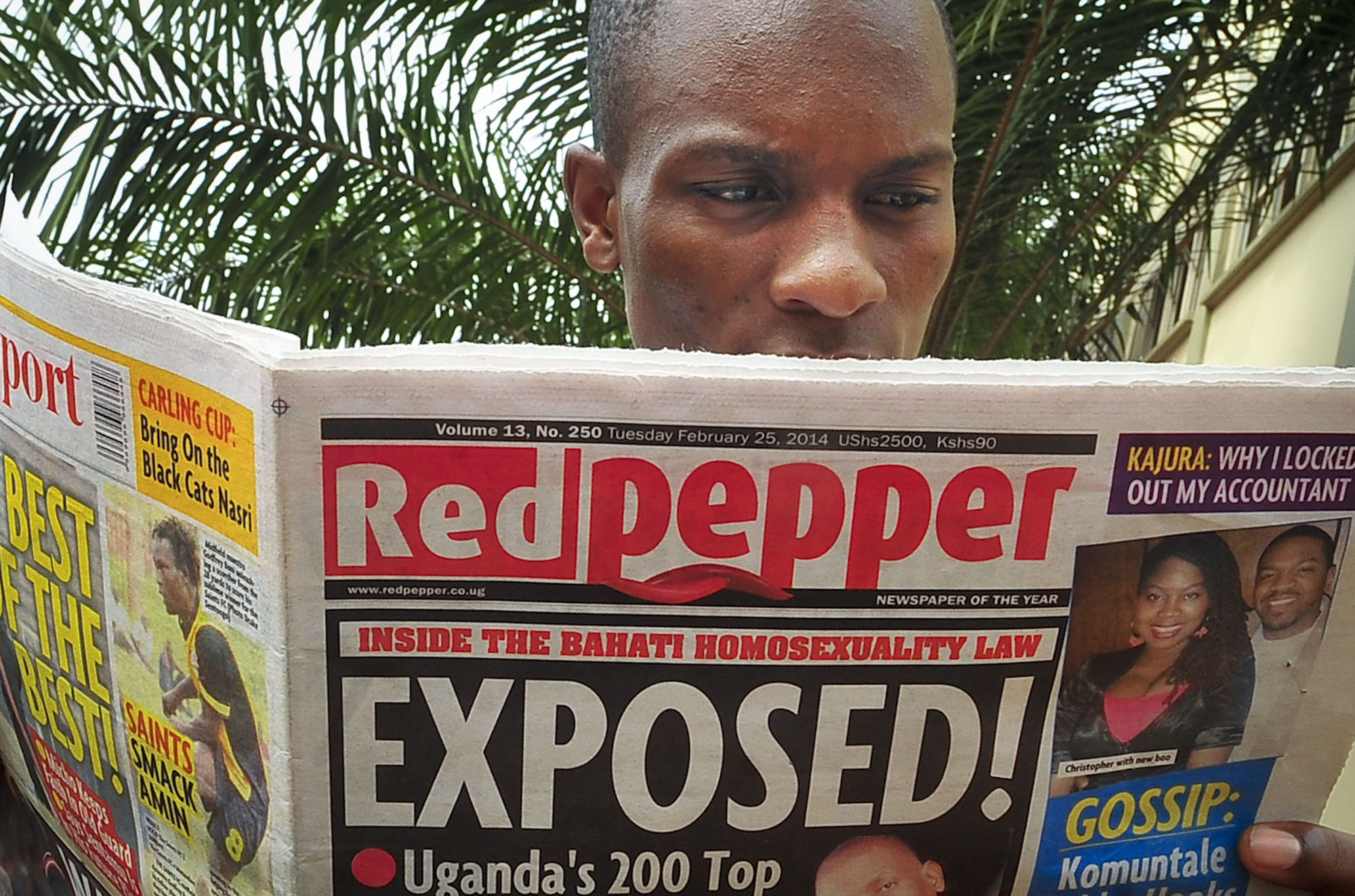 Uganda's LGBT community is using journalism to try to counter negative reporting after the tabloid Red Pepper, pictured, published a list of what it called the country's '200 top homosexuals.' (AP/Stephen Wandera)