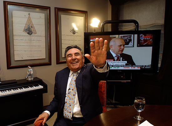 Turkish businessman Aydın Doğan, shown here in a 2009 file photo, on June 13, 2016, denied tax-evasion charges before an Istanbul court. (Murad Sezer/AP)