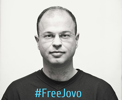 Freelance journalist Jovo Martinović has been in pretrial detention for 11 months. (Martinovic family)