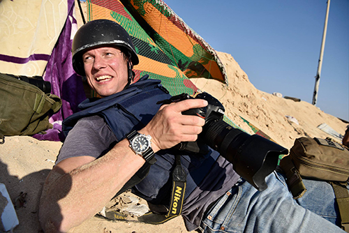 Jeroen Oerlemans, a freelance photojournalist, was killed covering clashes in Sirte, Libya. (Stanislav Krupar)