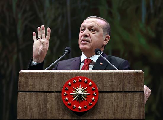 Turkish President Recep Tayyip Erdoğan addresses farmers in Ankara, November 14, 2016. (Murat Cetinmuhurdar/Presidential Press Service/Pool/AP)