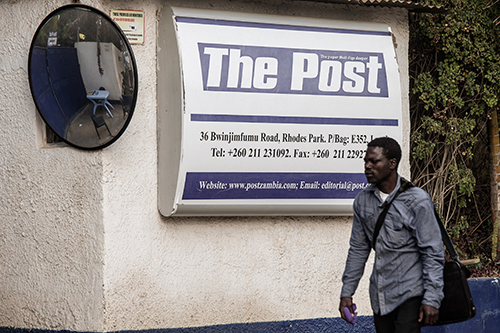 The office of critical newspaper The Post. Editors at the Zambian daily say the order to close it in June was politically motivated. (AFP/Gianluigi Guercia)