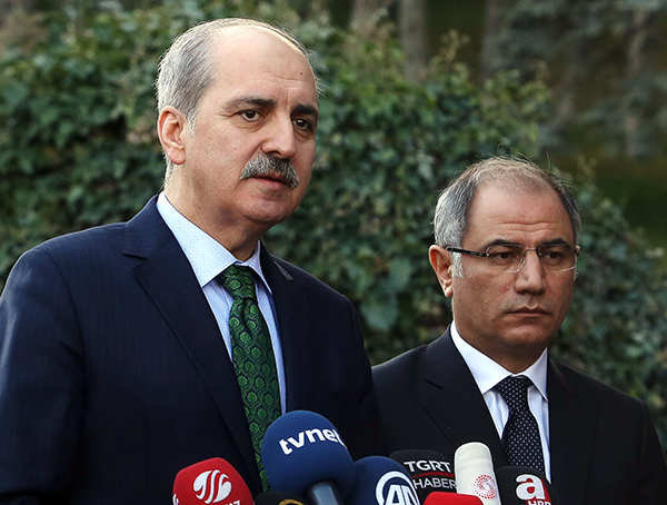 Turkey's deputy Prime Minister Numan Kurtulmuş, pictured in January 2016, said at a news conference this week that the media should be careful while covering sensitive issues. (Adem Altan/AFP)