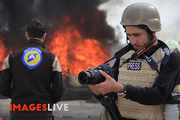 Osama Jumaa, fotógrafo y videógrafo, murió mientras cubría las secuelas de un bombardeo en Siria. (Images Live)