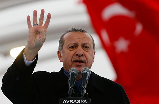 Turkish President Recep Tayyip Erdoğan speaks in Istanbul, December 20, 2016. (Reuters/Murad Sezer)
