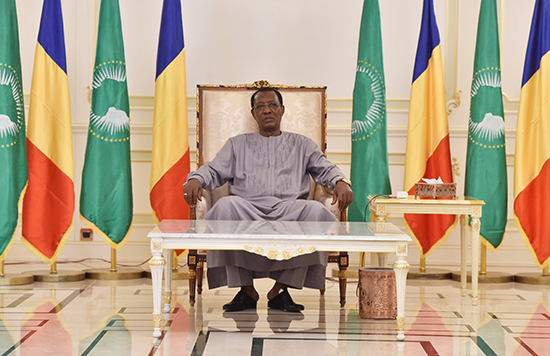 Chadian President Idriss Deby sits in the presidential palace in N'Djamena, December 29, 2017 (Reuters)
