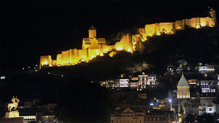 A general view of the old city in Tbilisi, Georgia. Freelance journalist Afgan Mukhtarli, who was living in exile in the country, is detained in Azerbaijan after being abducted in Georgia. (AFP/Vano Shlamov)