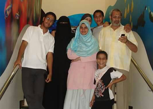 An undated family photo shows Mohamed al-Fakharany, front right, and his brother, Abdullah, left. A verdict is due in Abdullah al-Fakharany's case in May. The journalist has been imprisoned since 2013. (Al-Fakharany family)