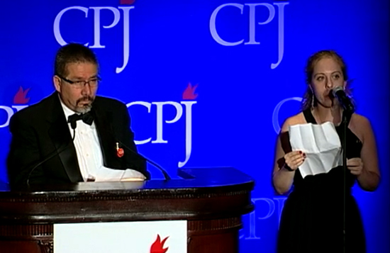 The author interprets Javier Valdez Cárdenas's acceptance speech at the 2011 International Press Freedom Awards in New York. Valdez 'combined the grit of the most battle-hardened reporter with the elegiac soul of a 19th century Romantic poet.' (CPJ)