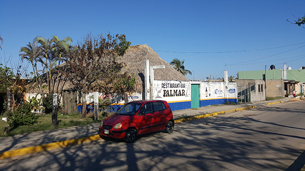 El Palmar, known locally as the 'Bar of Bad Death,' is seen in this January 2017 photo. The bar's owner is in custody for allegedly ordering Jiménez's murder after he reported on a stabbing outside the establishment. (CPJ/ Jan-Albert Hootsen)