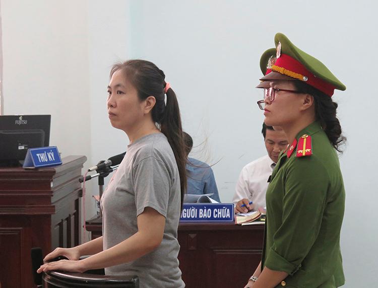 Nguyen Ngoc Nhu Quynh stands trial in Khanh Hoa, Vietnam, June 29, 2017. (Vietnam News Agency via AP)