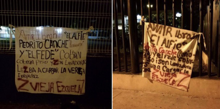 Banners threatening two Quintana Roo journalists were left in Cancún. Violence against journalists has risen in the Mexican state. (Noticias Pedro Canché)