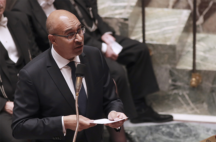 Harlem Désir, pictured at France's National Assembly in Paris in July 2016, says he is committed to standing up for journalists in his new role as OSCE Representative on Freedom of the Media. (AFP/Jacques Demarthon)