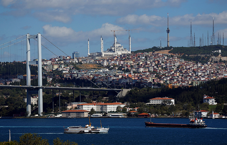 A view of the Bosphorus in Istanbul, Turkey. The body of a Syrian-American journalist living in Istanbul was found yesterday in her apartment.(Reuters/Murad Sezer)