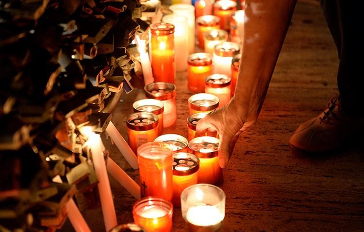 Гражданская панихида в г. Слима (Мальта) по Дафне Каруана Галисия, независимой журналистке, убитой в результате взрыва автомобиля в октябре 2017 года. (Агентство Франс Пресс/Мэтью Мирабелли)