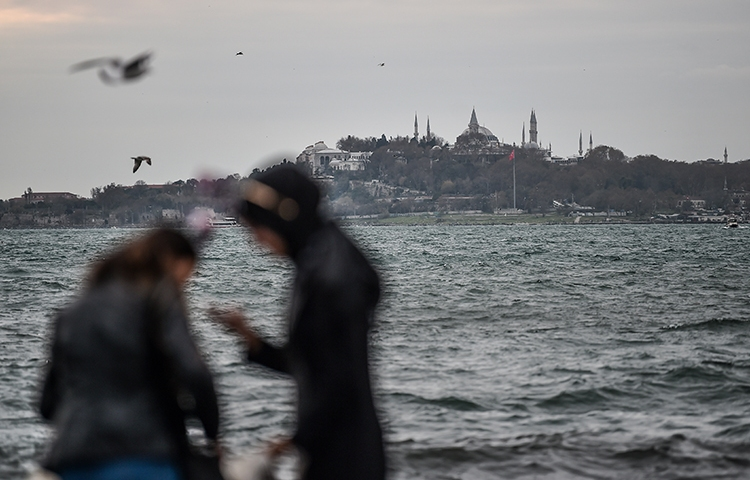 A view of the historical old city of Istanbul in December 2017. A court in the city has ordered three Zaman employees to be released for the duration of their trial. (AFP/Ozan Kose)